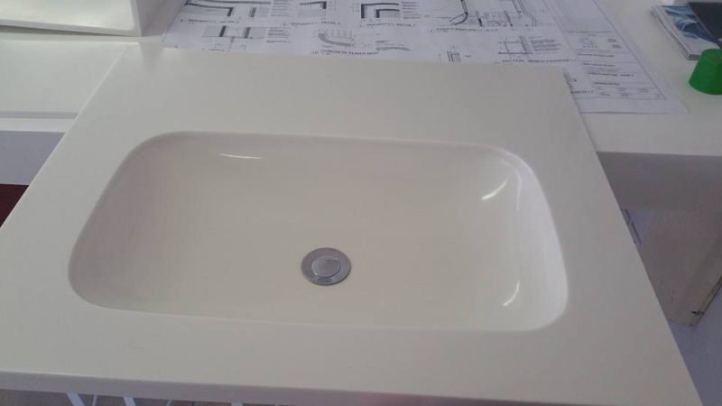 Vanities techno surfaces for Avonite sinks