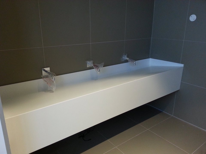 Sloping Vanity Counters Techno Surfaces